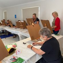 Women of creation and imagination mark making and exploring the art of life drawing.