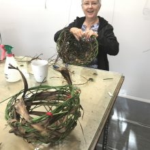 'Weaving our Stories' Using basketry techniques to weave our stories.